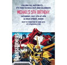 custom transformers invitations u0026 thank you notes party city