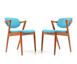 Dinette Chairs by Pair Of Mid Century Teak Kai Kristiansen Dining Chairs Model 42