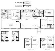 4 Bedroom 2 Bath Mobile Homes Floor Plans Champion 381l Manufactured And Modular Homes