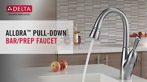 delta allora kitchen faucet delta allora single handle bar faucet with pull sprayer in