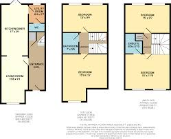 qmc floor plan 4 bedroom town house for sale in nazareth road nottingham ng7