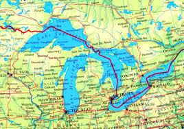 Map Of Great Lakes Great Lakes Maps Maps Of Great Lakes