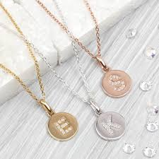initial necklace diamond images Personalised genuine diamond initial disc necklace by hurleyburley jpg