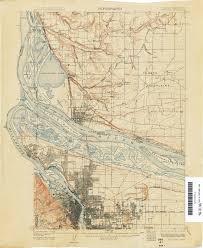 map of oregon portland oregon historical topographic maps perry castañeda map