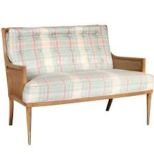 mid century cane panel loveseat for sale at 1stdibs