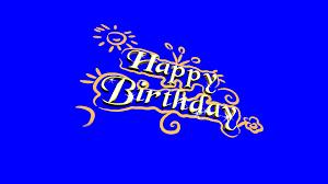 4k happy birthday sketch blue screen effect free footage youtube