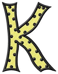 polka dot letter k embroidery design annthegran