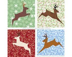 reindeer block paper pieced quilt pattern pdf paper piecing