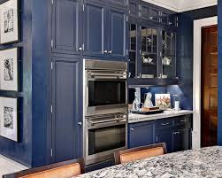 Blue Painted Kitchen Cabinets Navy Blue Paint Color Ideas Interior Design