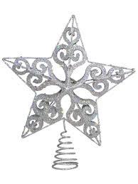 silver filigree 3d tree top decoration 24cm