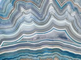 wall mural personalization the polished cut of agate in blue