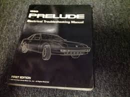 1990 honda prelude electrical troubleshooting wiring service shop