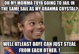 Janet Jackson Meme - oh my momma toya going to jail in the same sail as my granma crystal