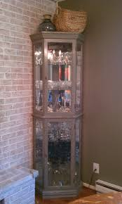 curio cabinet curio cabinet lighted cabinets cheap used corner