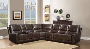 Sectional Recliner Sofa With Cup Holders Homelegance 4 Bonded Leather Sectional Reclining