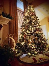 western tree ornaments lights decoration