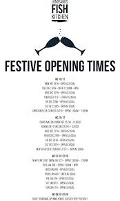 festive opening times longsands fish kitchen