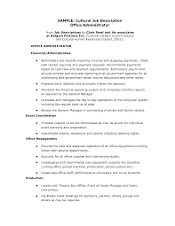Jobs Descriptions For Resume by Office Assistant Job Description Accounting Office Assistant Job