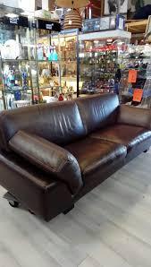 troc canapé canape cuir brun 3 places roche bobois occasion troc richwiller