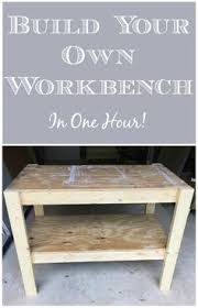 Build Your Own Work Bench Diy Workbench With Free Plans And Cut List From The Craft Crib