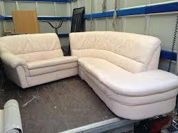 anibis canapé canapé d angle cuir blanc 003 sofas canapés d angle