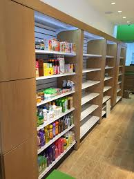 handy store fixtures wall unit shelving with wood storage cabinets