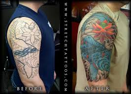koi half sleeve cover up tattoos