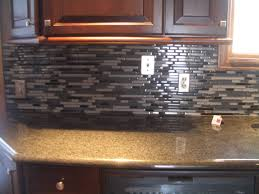 Black Backsplash Kitchen Backsplashes Farmhouse Kitchen Dark Brown Cabinet Black Gray