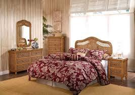 Used Bedroom Set Queen Size Wicker Rattan Bedroom Furniture Platform Indoor Vintage Page Sets
