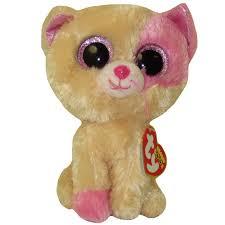 ty beanie boos anabelle pink u0026 cream cat glitter eyes