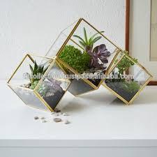 sale geometric glass terrarium and glass cube hanging