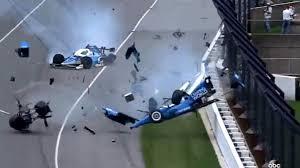 lanterns crash in indianapolis 500 rips rear of scott dixon u0027s car