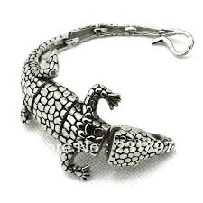 bracelet gift images New arrivals mens boys silver cool alligator crocodile bangle jpg