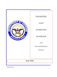 dod parametric cost estimating handbook 2nd ed business process