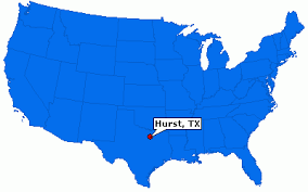 hurst map hurst city information epodunk