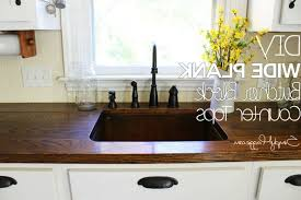 Diy Wood Kitchen Countertops Kitchen Room Desgin Diy Wide Plank Butcher Block Counter Tops