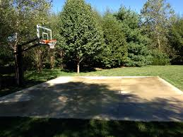 Backyard Gold There Is His Pro Dunk Gold Basketball System In His Wooded Backyard