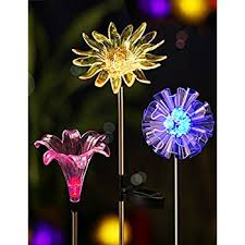 solar stake lights outdoor solar garden stake lights outdoor sooreally color changing solar