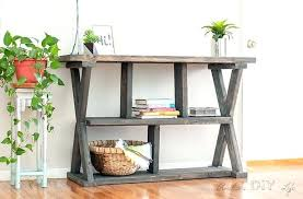 X Console Table Diy Rustic X Console Table With Drawers Leg Life Wood U2013 Launchwith Me