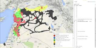 Syria Map by Syria Iraq Conflict Time Lapse September 2015 March 2016 Youtube