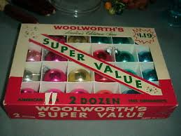 12 woolworth s shiny brite assorted vintage glass small ornaments