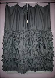 Light Gray Blackout Curtains Grey Ruffle Blackout Curtains Grey Ombre Ruffle Shower Curtain