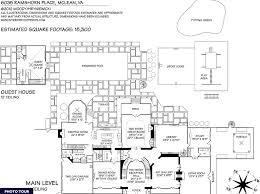 georgian mansion floor plans 15 000 square foot georgian mansion in mclean va homes of the rich