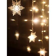snowflake string of lights christmas indoor decor snowflake pendant led string light in warm