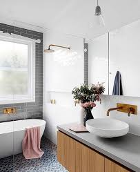 Grey And White Bathroom Tile Ideas Best 25 Bathroom Feature Wall Ideas On Pinterest Freestanding