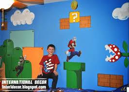 Super Mario Bedroom Decor Wall Decorating Ideas For Children U0027s Room