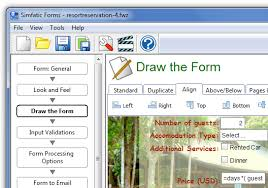 design form using php simfatic forms build unlimited web forms