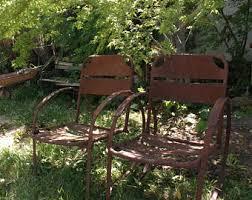 Metal Patio Chair Vintage Metal Patio Furniture Etsy