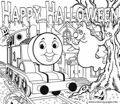 halloween thomas train sac35 coloring pages printable