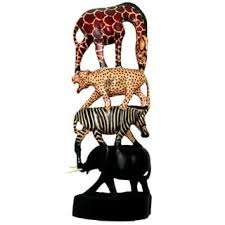 eclectic giraffe ring holder images Shop handmade stacked animals column kenya on sale free jpg